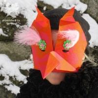 Origami Maske 2018 Fasching