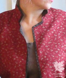 Wendebluse/Jacke Burda International Frühling 84 japanischer Double-Face Karlotta Pink