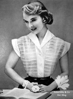 Bluse Vintage Burda 50er Schnittmuser Nähblog nähen