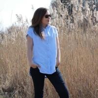 kalle shirt closet case patterns linen leinen blau