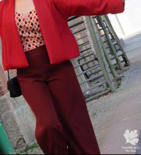 Jacke Simplicity Marlenehose Bluse Vintage Stoff Karlotta pink