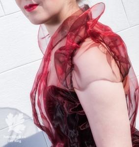 Ballkleid Vintage Organza nähen Ronne How to do fashion blouse Bluse
