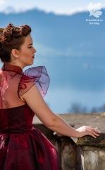 Ballkleid nähen Vintage Kleid Organza 50s Blog