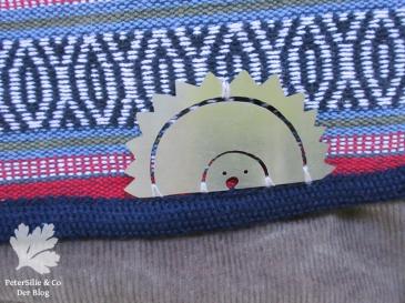 Igel auf Taschenklappe/ Stofftasche Nepalstoff Karlotta Pink Cord