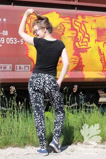 Hudson Pants lang true bias Sweat Leo Print
