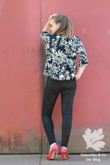 Matcha Top mit Ärmel Sew Liberated Oversize Bluse Stoff und Stil Floral Viskose