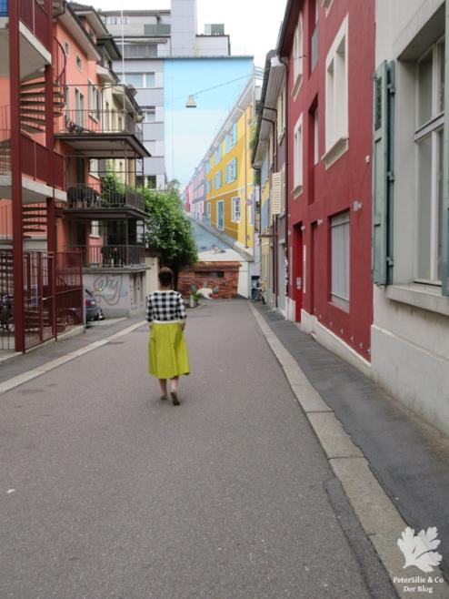 Karlotta Pink Blockprint nähen Vitntage Blog Bluse Rocke