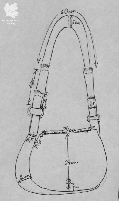Schemazeichnung Tasche