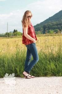 Matcha Top Sew Liberated Sleeveless Karlotta Pink