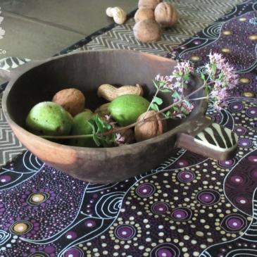 Tischläufer Detailansicht Patchwork Karlotta Pink Aboriginestoff