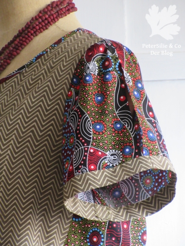 Bluse Karlotta Pink / indischer Baumwolldruck / Aboriginestoff/ Schnitt Simplicity 3/16 Mod 27