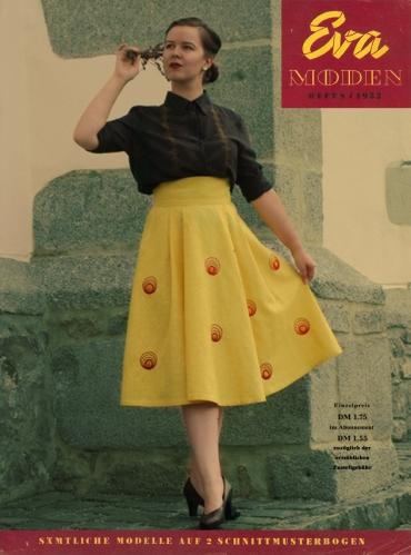 Eva Moden 1952 Vintage Nähen Blog Rock Sticken
