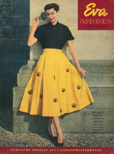 Eva Moden 1952 Vintage Nähen Blog Rock Sticken