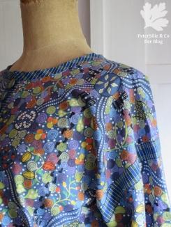 Detail Bluse/ Aboriginestoff Karlotta Pink / Schemaschnitt