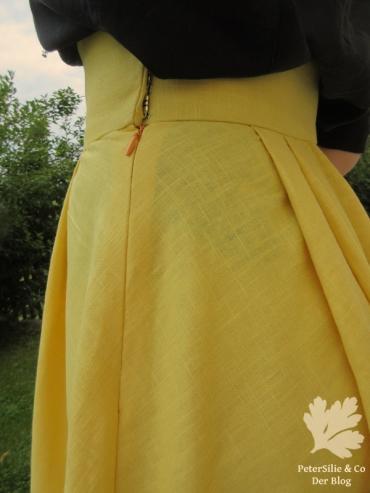 Gelber Leinenrock