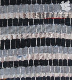 Gewebte Streifen Jeans/Plastik