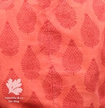 Karlotta Pink Blockprint Bio Stoff