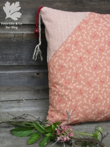 Polsterecke Kordel Perlen Japanische Stoffe Karlotta Pink