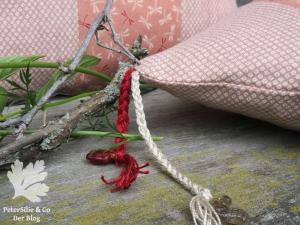 Polsterdetail Kordel Perlen Japanstoffe Karlotta Pink
