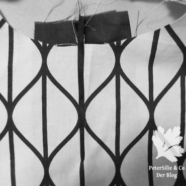 Rüschenbluse der Schlitz