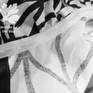 Rüschenbluse Kragennaht Detail