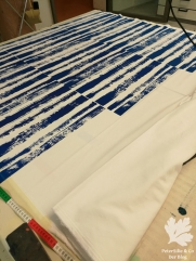 Streifen Siebdruck Faltenrock