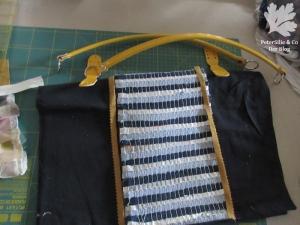 Verwebte Streifen Taschenentwurf