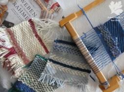 verschiedene Musterfleckerl Fischgratbindung, Köper, Sumak Ryana