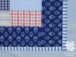 Der Rand Quilt Wäschestoffe Blaudruck