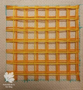 Battlement Couching Tutorial sticken Blog Tipp