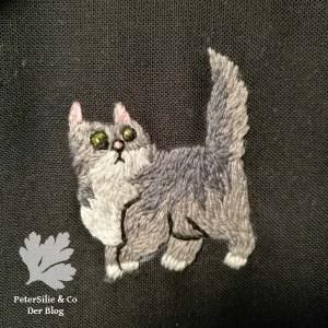 Katze sticken