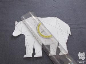 geometrischer Bär mit den Unterteilungen