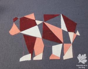 Bärenpolster, die Farbflächenverteilung