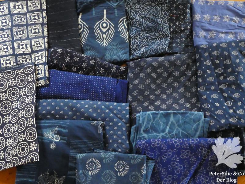 Blaudruckstoffe, Baumwolle, Leinen