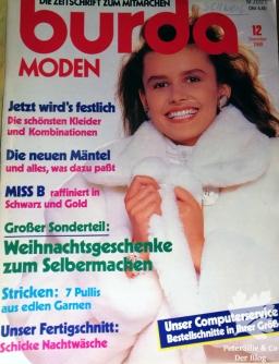 Burda Moden 12 1988 Titelblatt
