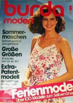 Burda Moden 6 1981 Cover