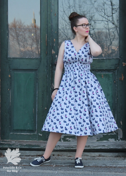 Popover Dress Gertie Sews Jiffy Dresses Buch Rezension Blog Nähen Vintage Kleid DIY