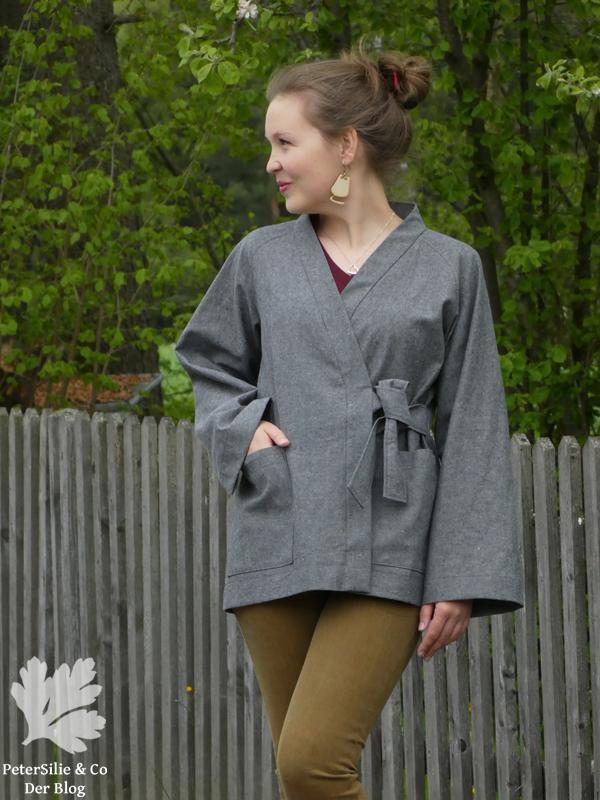 Kimono Jacket The Assembly Line grau grey Linen Leinen Jacke