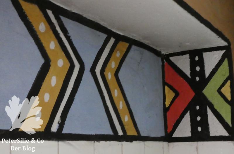 Ndebele Wandmalerei Versuche