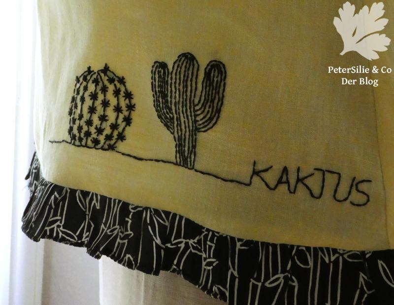Bluse mit Kaktus aus Hoop Art Detail
