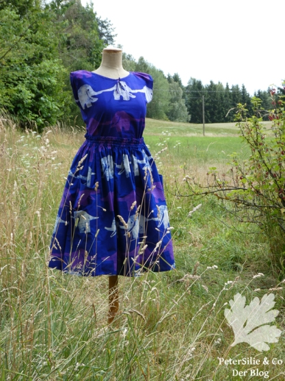Kleid Lilaelefant afrikanische Batik Karlotta Pink1
