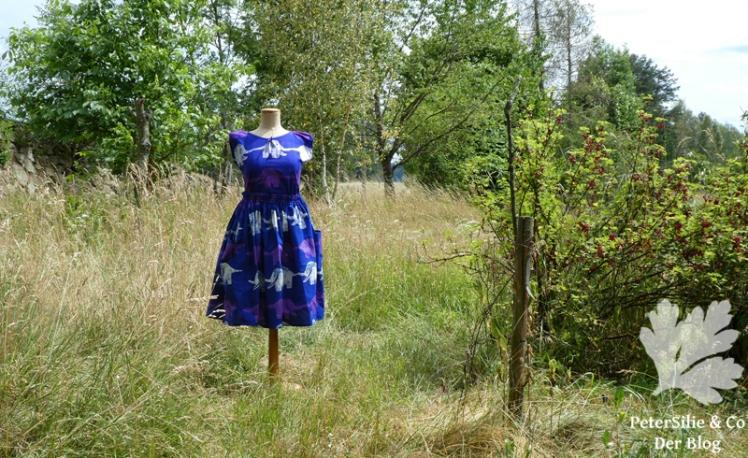 Kleid Lilaelefant afrikanische Batik Karlotta Pink11