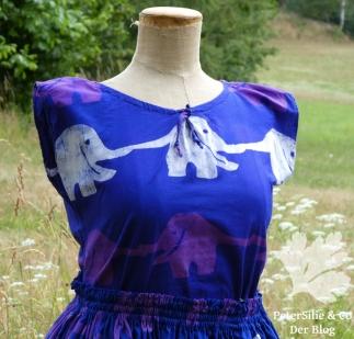 Kleid Lilaelefant afrikanische Batik Karlotta Pink2