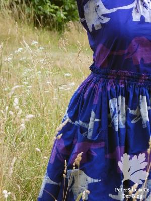 Kleid Lilaelefant afrikanische Batik Karlotta Pink3