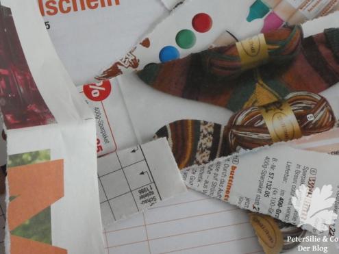 Stoffspielereien Nähen auf Papier5
