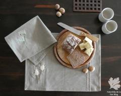 Tischset Mähnengerste und Hasenschwanzgras