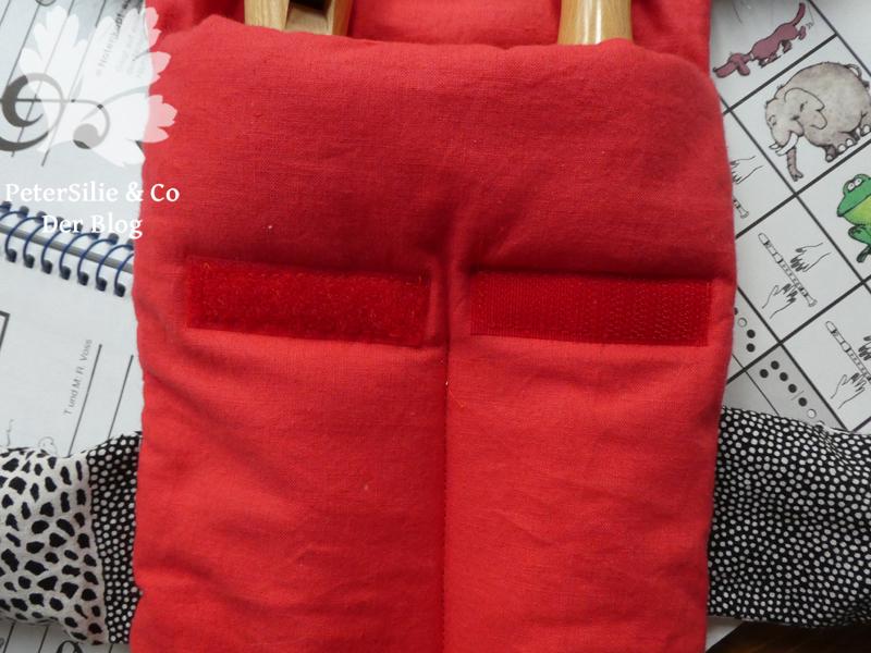 Flötentasche Aborigine Stoff Karlotta Pink Verschluss