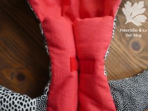 Flötentasche Aborigine Stoff Karlotta Pink Klettverschluss