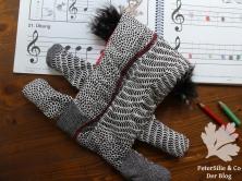 Flötentasche Aborigine Stoff Karlotta Pink Rückseite