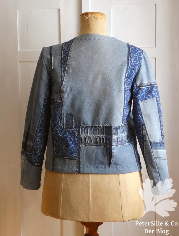 patchwork jeans shweshwe jacke karlotta pink upcycling